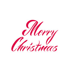 merry christmas quote hand drawn vector image