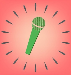 microphone musical symbol singing pop sign vector image