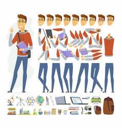 Modern student - cartoon people character vector