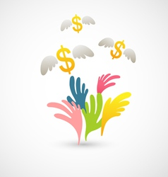 money grab vector image