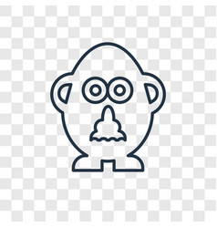mr potato toy concept linear icon isolated on vector image