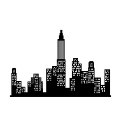 New york city view silhouette vector