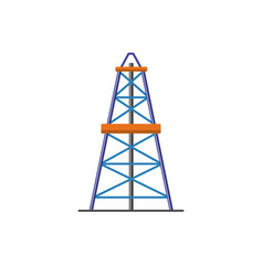 Oil derrick icon in flat style vector