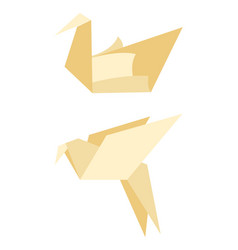 Origami bird made of paper vector