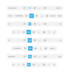 pagination bar set vector image