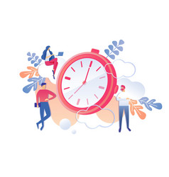Productive professional activity time management vector