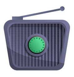 retro radio icon cartoon style vector image