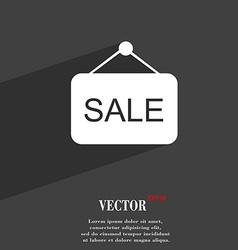 Sale symbol Flat modern web design with long vector image