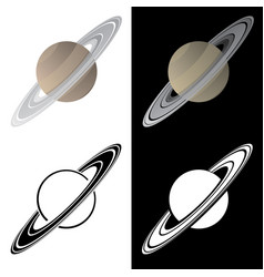 saturn vector image
