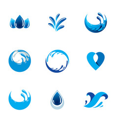 sea wave splash logo pure water as the driving vector image