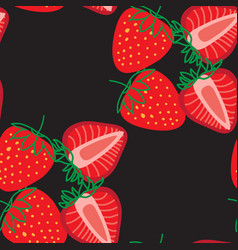 seamless pattern strawberrys design colorful vector image