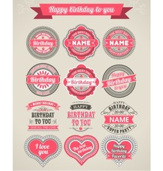 Set of 12 beautiful vintage frames with inscriptio vector