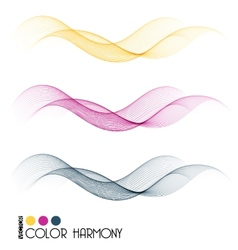 Set of color curve lines vector image