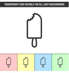 simple outline transparent bitten off popsicle vector image