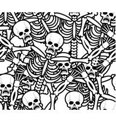 sinners seamless pattern skeleton in hell vector image