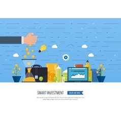 Smart investment finance banking management vector image