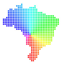 Spectrum circle dot brazil map vector