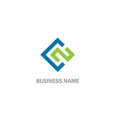 square colored shape business logo vector image