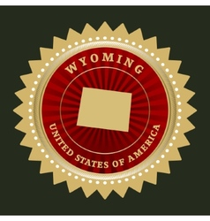 Star label Wyoming vector
