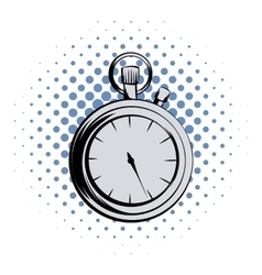 Stopwatch comics icon vector