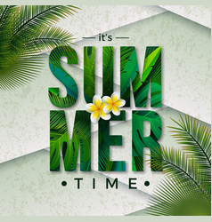 Summer time with typography vector