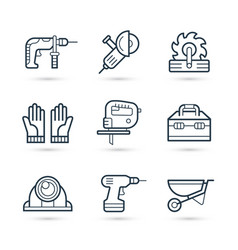 tools for construction icons pack vector image