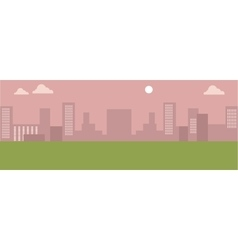 Urban Cityscape Silhouettes of Buildings vector