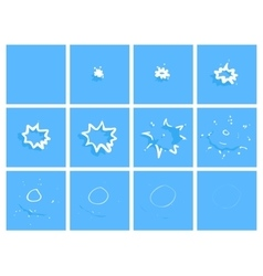Water drop splash animation frames effect for vector