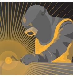welder worker vector image