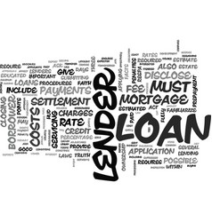 What are bad credit mortgages text word cloud vector