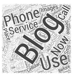 Wireless Blogging Works Word Cloud Concept vector