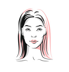 woman portrait sketch vector image