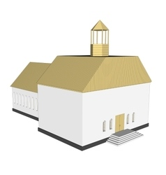 building 3d Church on white background vector image