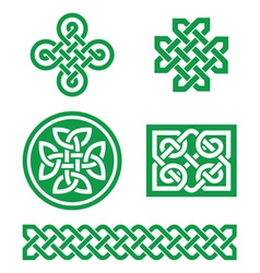 Celtic knots braid patterns - St Patricks Day vector image