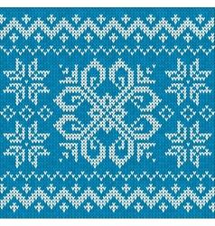 Christmas ornamental embroidery vector image