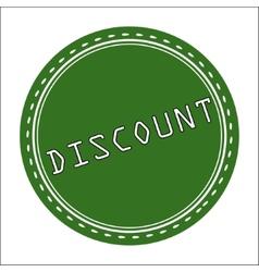 Discount Icon Badge Label or Sticke vector image vector image