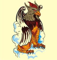 lion eagle vector image vector image
