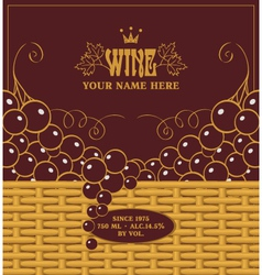 red wine labels vector image vector image