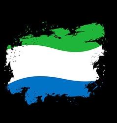 Sierra Leone Flag grunge style on black background vector image