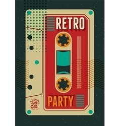 Typographic Retro Party poster design vector image vector image