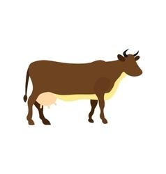 Brown cow icon vector image vector image