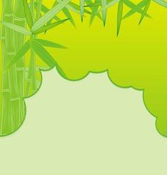 cut bamboo green vector image vector image