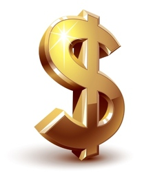 Dollar sign vector image vector image