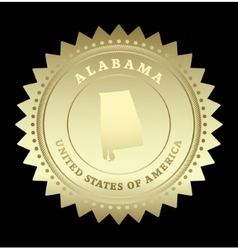 Gold star label Alabama vector image vector image
