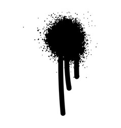 multiple black ink drops and splashes vector image