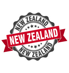 New zealand round ribbon seal vector