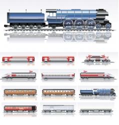 railroad transportation vector image vector image