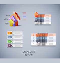 set of design elements for infographic or vector image vector image