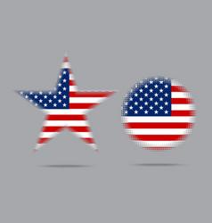 Usa flag star halftone effect style isolated vector