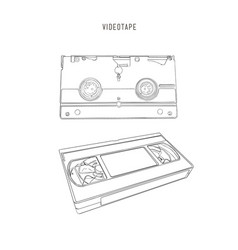 vhs cassette vector image vector image
